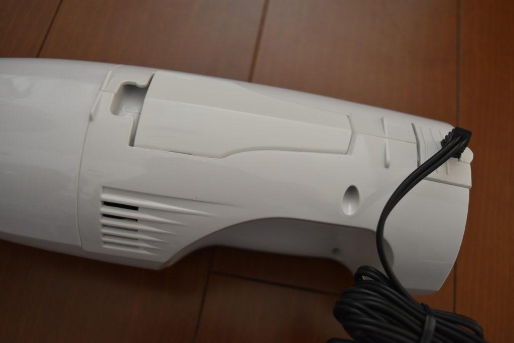 産後の抜け毛に。TWINBIRD コードレスハンディークリーナーサットリップ ホワイト HC-EB02W